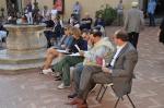 la giuria: la giornalista e conduttrice televisiva Dina Tomezzoli, la regista teatrale Melissa Regolanti, l'attore Antonio Saccoccio, il prof. Rocco Paternostro e l'ass. Pedace