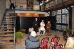 Ass. alla Cultura della città di Nettuno Giampiero Pedace, la delegata alle Pari opportunità della città di Viterbo Maria Antonietta Russo